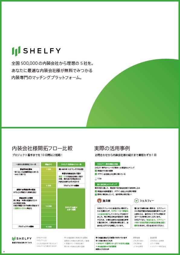 「SHELFYのパンフレット」の中身